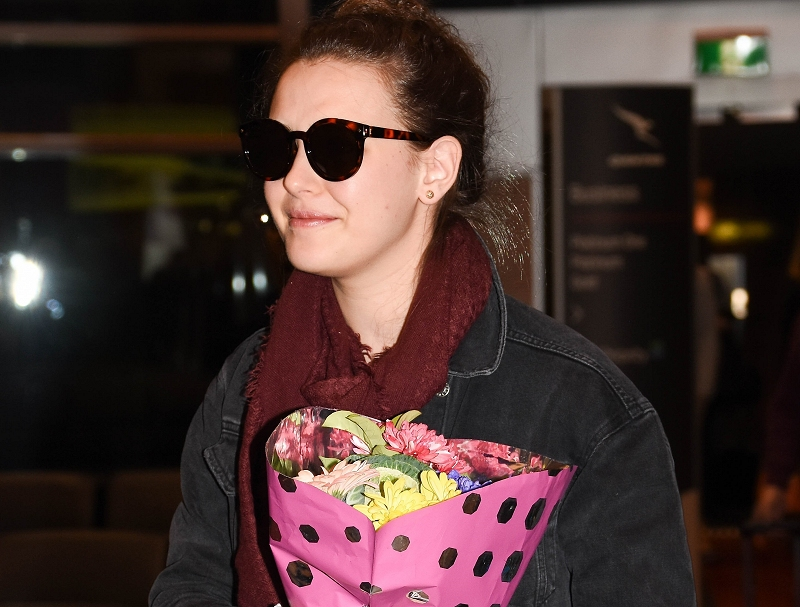 Arrives into Sydney Airport [May 31]