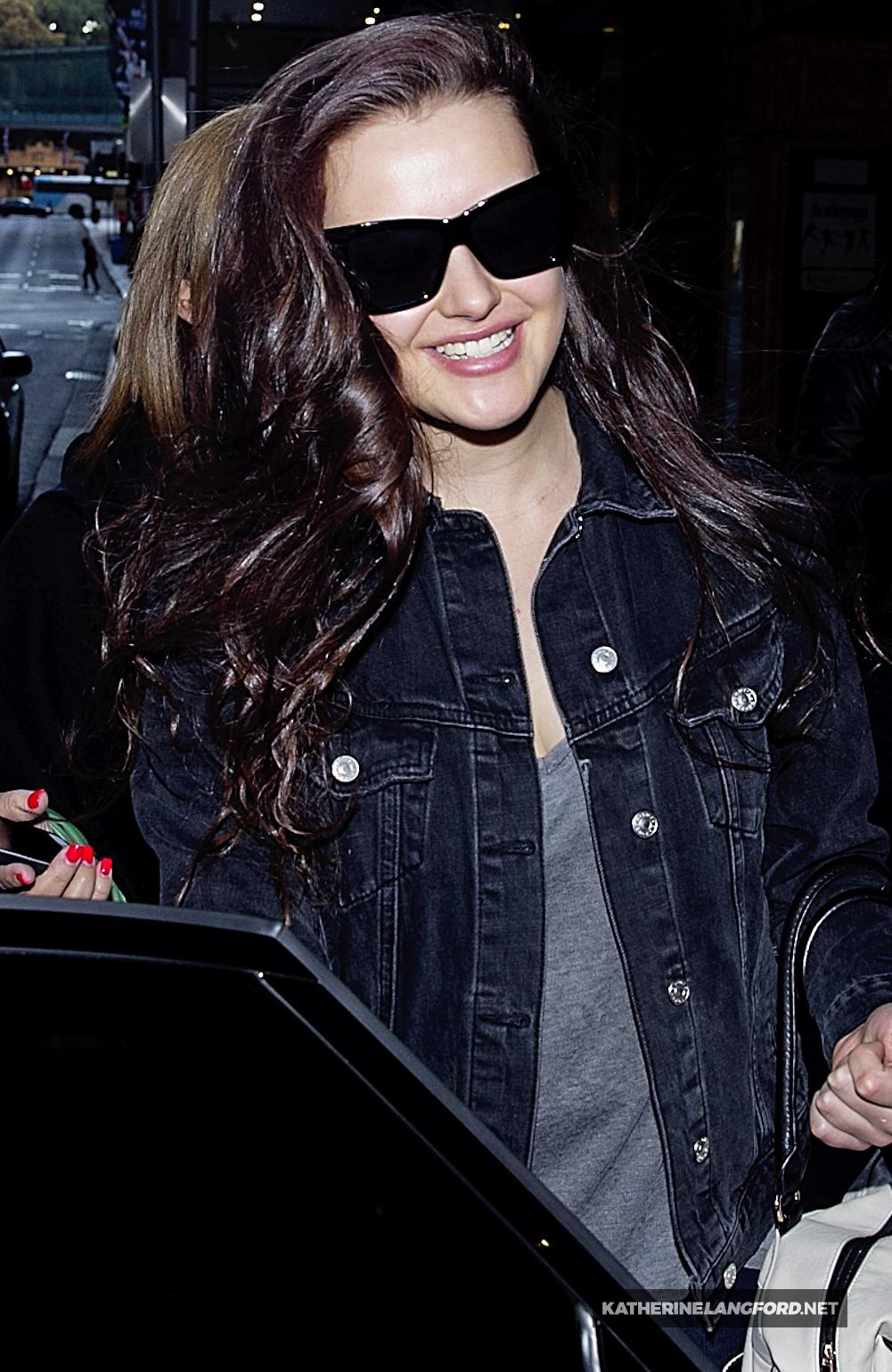 Leaves the QT Hotel in Sydney [June 2]